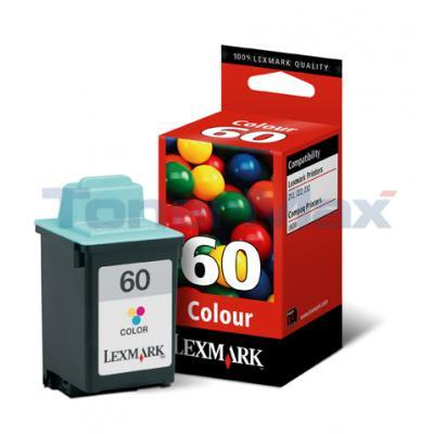 LEXMARK Z12 NO 60 PRINT CART COLOR